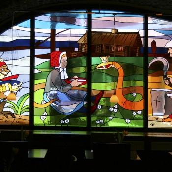 Bleiverglasungen im sorbischen Restaurant Wjelbik, Bautzen