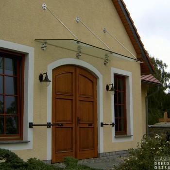 Dachverglasung punktgehalten