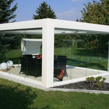Seiten und Dachverglasung Terasse